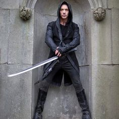"#Inspiration for a Modern-Day Grim Reaper Costume >> Jonathan Rhys Meyers (Valentine Morgenstern) in ""The Mortal Instruments: City of Bones"" (2013) ♥"