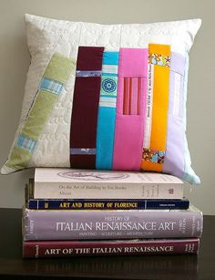 Quilted Pillow with Book Sides