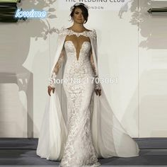 Find More Wedding Dresses Information about Vintage Berta Lace and Chiffon Mermaid Wedding Dresses Long Sleeves 2017 Sexy Sereia Gelinlik Vestido De Noiva with Wrap Bridal,High Quality wedding dress long sleeve,China vestido de noiva Suppliers, Cheap de noiva from Lowime Boutique Store on Aliexpress.com