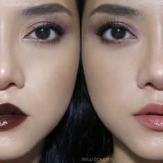Chocolate and Coffee tones. Which would you wear for the weekend? See the tutorial on the blog link! #makeup #occ #liptar #sybil #darklips