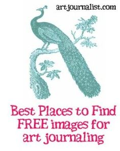 art journal Where to Find Free Graphics amp; Printables for Your Art Journals - Art Journalist Art Journal Pages, Art Journals, Drawing Journal, Watercolor Journal, Watercolor Sketch, Journal Covers, Bullet Journals, Altered Books, Altered Art