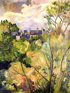 Suzanne Valadon - View from My Window in Genets (Brittany), 1922
