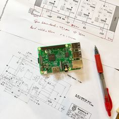 Introducing Raspberry Pi 3. The 1 of 65 pieces of Ava's brain. This is master node 0.    #geek #nerd #sunday #afternoon #raspberry #pi #raspberrypi #raspi #computer #software #engineering #development #code #coding #cafe #ai #project #ava #softwareengineer #programmer #programming #hardware #schematic