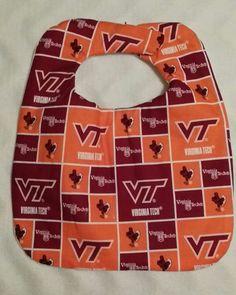Hand Crafted Virginia Tech Hokies design 2 Baby Bib NEW Free Shipping