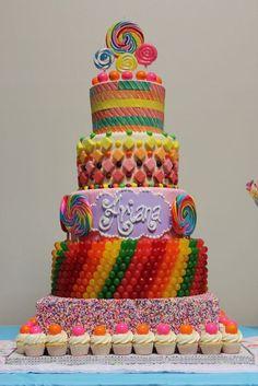 Candy Birthday Cake - 25 Best Girl Birthday Cakes • The Celebration Shoppe