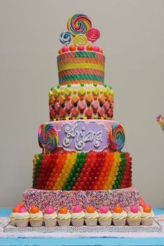 Candy Birthday Cake - 25 Best Girl Birthday Cakes • The Celebration Shoppe