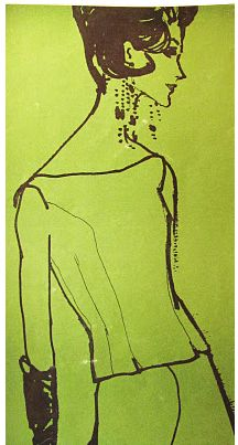 By Mouchy, 1961, for an editorial on evening wear.