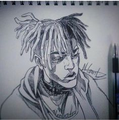 Rest in peace young men 🙏🙏 Xxxtentacion art Cool Drawings, Pencil Drawings, Let's Make Art, Rapper Art, Crayon, Art Sketchbook, Artist Art, Black Art, Character Concept