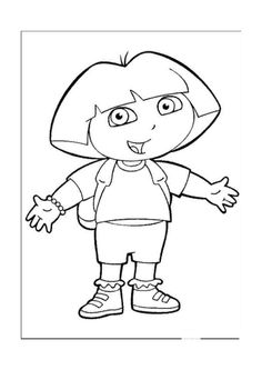 dora the explorer coloring pages for kids 23 - Dora The Explorer Pictures To Color And Print
