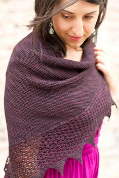 Bramble Shawl, part of The Confluence Collection. Love the simplicity of this shawl