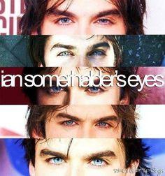 Ian Somerhalder's eyes