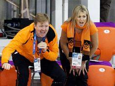 Alexander en maxima schreeuwen Irene Wust naar goud !!