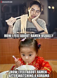 True that. Or after getting into KPop. Cause now I want to eat it for breakfast lunch and supper.