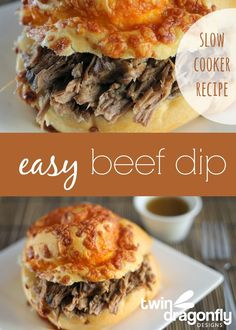 Easy Slow Cooker Beef Dip » Dragonfly Designs