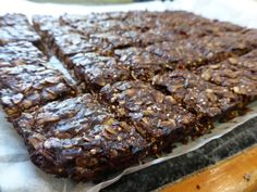 Healthy (well, sort of), filling and chocolate - three good things in a snack! One of my favourite slices as it is so quick and easy.
