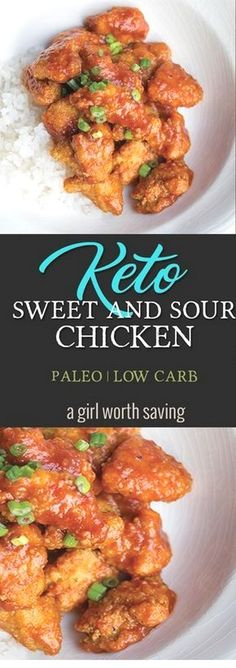 Keto and Miss your restaurant favorites? Grab this recipe for Keto Sweet and Sou… Keto and Miss your restaurant favorites? Grab this recipe for Keto Sweet and Sour Chicken that is has only 4 net carbs! Perfect over cauliflower rice. via Keto Paleo Ketogenic Diet Meal Plan, Ketogenic Diet For Beginners, Diet Meal Plans, Ketogenic Recipes, Low Carb Recipes, Diet Recipes, Healthy Recipes, Recipes Dinner, Dessert Recipes