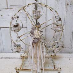 Metal Ferris wheel candle holder large display by AnitaSperoDesign