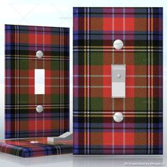 Light Switch Plate in Red Tartan Scottish Plaid, Scottish Tartans, Switch Plate Covers, Light Switch Covers, Switch Plates, Wallace Tartan, Plaid Decor, Tartan Pattern, Plaid Christmas