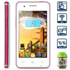 This phone will only work with GSM+WCDMA network Network type: GSMFrequency: GSM 850/900/1800/1900MHz Unlocked for Worldwide use, please check if your local area network is compatible with this phone  Highlights: Type: LED Music Phone  Color: Pink OS: Android 4.1 CPU: MTK6517 Dual Core 1G... Click on Picture to go to Store