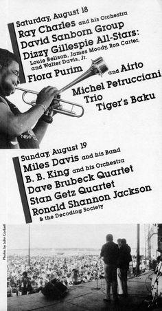 Newport Jazz Festival 1984, program brochure for August 18 & 19.  #NewportJazzFestival