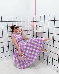 ModCloth x Jennifer Lake (@jenniferlake) in our The Surrounding Sweetness Sleeveless Midi Dress