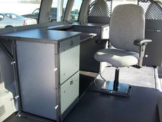 Mobile Office installed in a Chevy Express Van