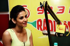 Bollywood actress Sonal Chauhan | Promotion of Hindi movie '3 G' at Radio Mirchi Studios in Mumbai | http://www.gomolo.com/sonal-chauhan-photos/16729