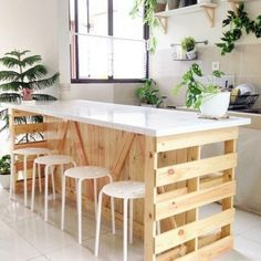 Diy pallet furniture - Awesome DIY Kitchen Pallet Ideas For a RusticStyle Kitchen Look – Diy pallet furniture Diy Furniture Couch, Wooden Pallet Furniture, Furniture Stores, Antique Furniture, Furniture Ideas, Outdoor Furniture, Diy Kitchen Furniture, Unfinished Furniture, Furniture Cleaning