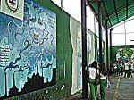la época de los murales, en abril-mayo, todos pintan sus murales y estos son los del 2012