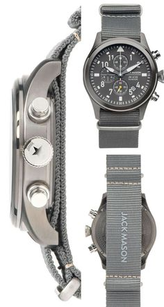 Love the look of this Aviator chronograph! - #jackmason #watch #jewellery #oybpinners #affiliate