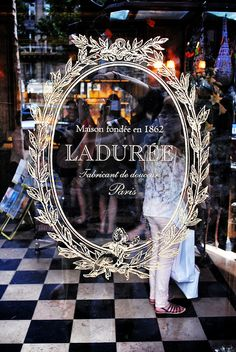 "Laduree, went there with my friend Pam where she got a beautiful box of  macarons for my mom ""delicieux"""
