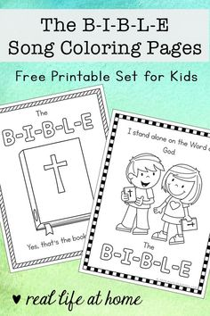 The bible 209135976432695765 - If you are working on learning the Bible Song, your kids may love these B-I-B-L-E Song coloring pages that feature The B-I-B-L-E Song lyrics. Source by RealLifeAtHome Toddler Bible Lessons, Bible Songs For Kids, Preschool Bible Lessons, Bible Activities For Kids, Bible Crafts For Kids, Bible Study For Kids, Preschool Activities, Bible Resources, Toddler Crafts