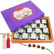 Pista Barfi rakhi with sweets