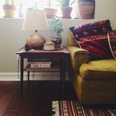 Feels like home to her: soothing, earthy, comfortable, natural, eco elements.