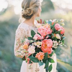 40 Perfect Peony Wedding Bouquets From classic all-white arrangements to bright and modern mixes, we Peony Bouquet Wedding, Summer Wedding Bouquets, Wedding Flower Arrangements, Bride Bouquets, Floral Wedding, Wedding Colors, Wedding Flowers, Purple Bouquets, Bridesmaid Bouquets