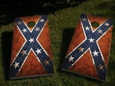 Worn-Out Rebel Flag - Cornhole Decals