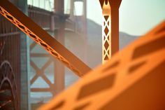 Photo and caption by Mike Matas    A view from underneath the Golden Gate Bridge at sunset.