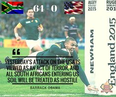 Team Braai-B-Que considers pulling out of Barrack Obama, Newham, Rugby, Acting, African, Baseball Cards, Bra, Sports, Hs Sports