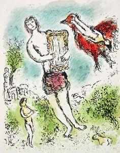 Theoclymenus (The Odyessy) 1989, Ltd Ed Lithograph, Marc Chagall – Art Commerce