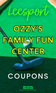 Promo code, coupon, discount ticket for Ozzy's Family Fun Center in Leesport, Pennsylvania the in  Philadelphia, Reading, Camden area. Has mini-golf, go-karts, bumper cars, rock climbing, roller skating, laser tag, sports arena, rope course, pool, ping pong, arcade Vacation Deals, Vacation Spots, Putt Putt Golf, Ropes Course, Reading Pa, Miniature Golf, Free Things To Do, High Energy, Go Kart