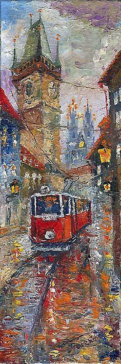 Prague Old Tram 01 by Yuriy Shevchuk.