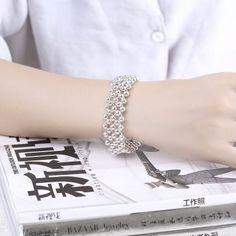 Romantic Women Bracelet Silver Plated Fashion Bead H399 #women, #men, #hats, #watches, #belts, #fashion
