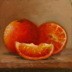 Oil On Panel 'Oranges' Still Life Daily Painting