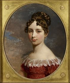 """""""Princess Feodora of Leiningen (1807-1872)"""", George Dawe, 1818; Royal Collection Trust 405015 Daughter of the Duchess of Kent by her first marriage, the half-sister of Queen Victoria."""