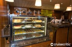 Café al Bacio & Gelateria  Cuisine: Specialty coffees, freshly baked pastries, Italian ices and gelatos Dress Code: Casual Surcharge: Yes, ask onboard Reservations Required: No Hours: Check onboard for hours