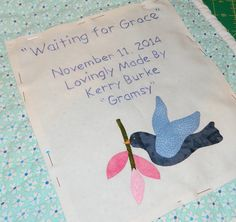 Making a quilt.one stitch at a time. Neat Handwriting, Bird Applique, Quilt Labels, Freezer Paper, White Fabrics, Quilts, Stitch, Simple, Ideas