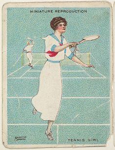Card 308, Tennis Girl, from Liggett & Myers Tobacco Company, 1913-14