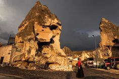 Stormy weather over Goreme in Cappadocia