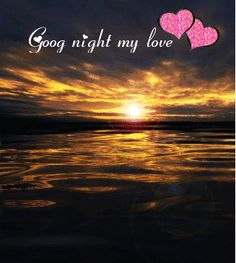 Animated Goodnight Messages | animated gifs of good night my love- sea view