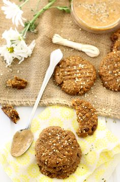 With just 4 basic ingredients and 3 optional ad-ins, these Almond Butter Hemp Seed Cookies couldn't get easier! They're made from clean ingredients, are high in protein and make a heart-healthy alternative to junk-filled cookies.